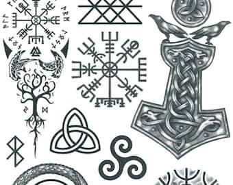 Viking Norse Tattoo Etsy