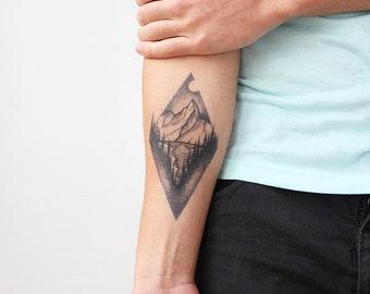 Triangle Tattoo Etsy