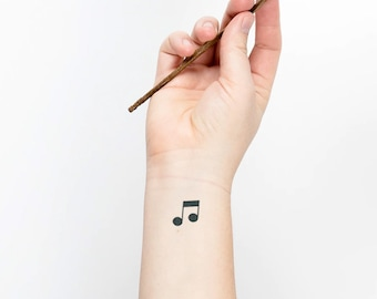 Music Tattoo Etsy