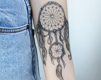 Dream Catcher Tattoo Etsy