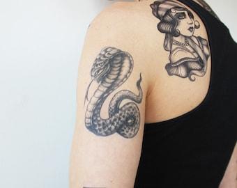 Snake Tattoo Etsy