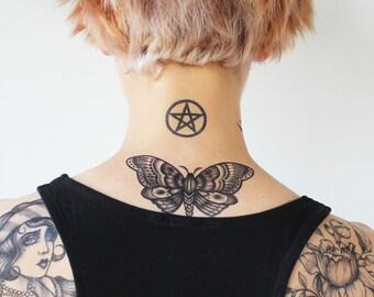 efb89f484 Blackwork Butterfly - Blackwork Temporary Tattoo / Butterfly Temporary  Tattoo / Traditional Butterfly Tattoo / Vintage Butterfly Tattoo