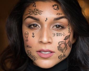 Rapper Tattoo Etsy