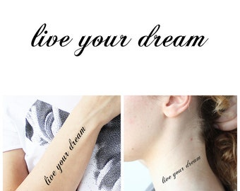 Dream Tatouage dream tattoo   etsy