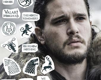 71497bd338a6e Game Of Thrones Tattoo Set (Set of 15) - GoT Temporary Tattoo Pack / Game Of  Thrones Temporary Tattoo / Daenerys Targaryen Tattoo / Stark