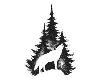Wolf tattoo | Etsy