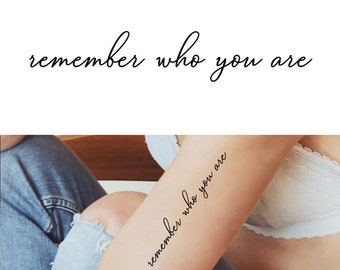 Remember Who You Are Etsy