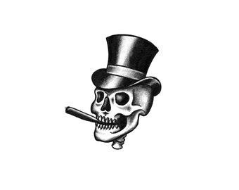 Skull Tattoo Etsy