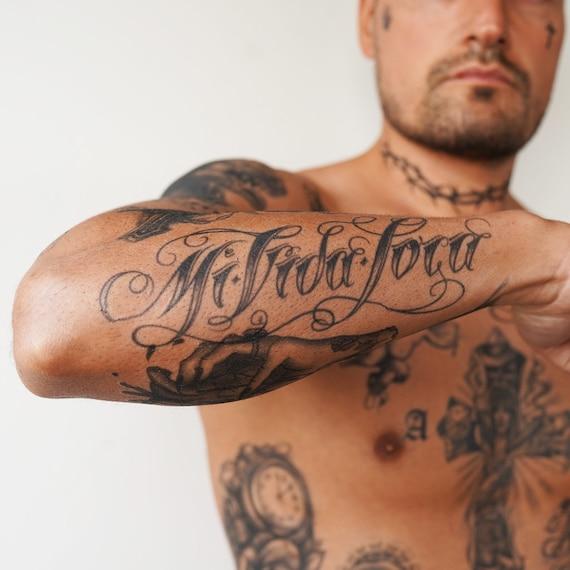 Mi Vida Loca Tatuaje Temporal Mi Vida Loca Tatuaje Etsy