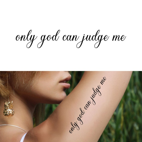2e7cfd4f90f25 Only God Can Judge Me Set of 2 Only God Can Judge Me | Etsy