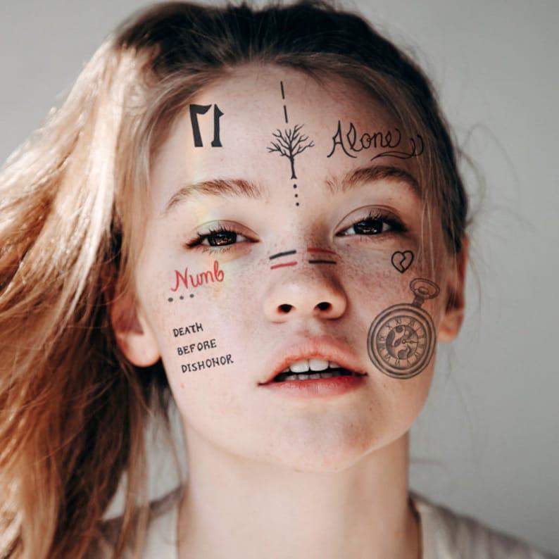 XXXTentacion Temporary Tattoos Set / XXXTentacion Face Tattoos /  XXXTentacion Art / XXXTentacion Halloween Costume / XXXTentacion Cosplay