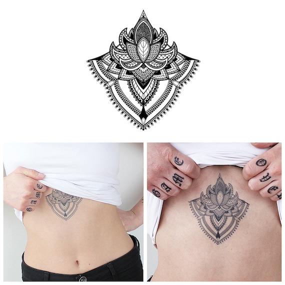 Mandala Podboob Mostek Tymczasowy Tatuażstern Tatuażpodboob Tatuażrealistyczny Tatuażdziewczyna Tatuażsexy Tatuażmandala