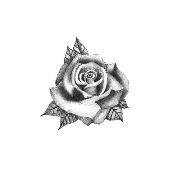Hand Rose Tattoo Temporary Tattoo Realistic Rose Tattoo Etsy