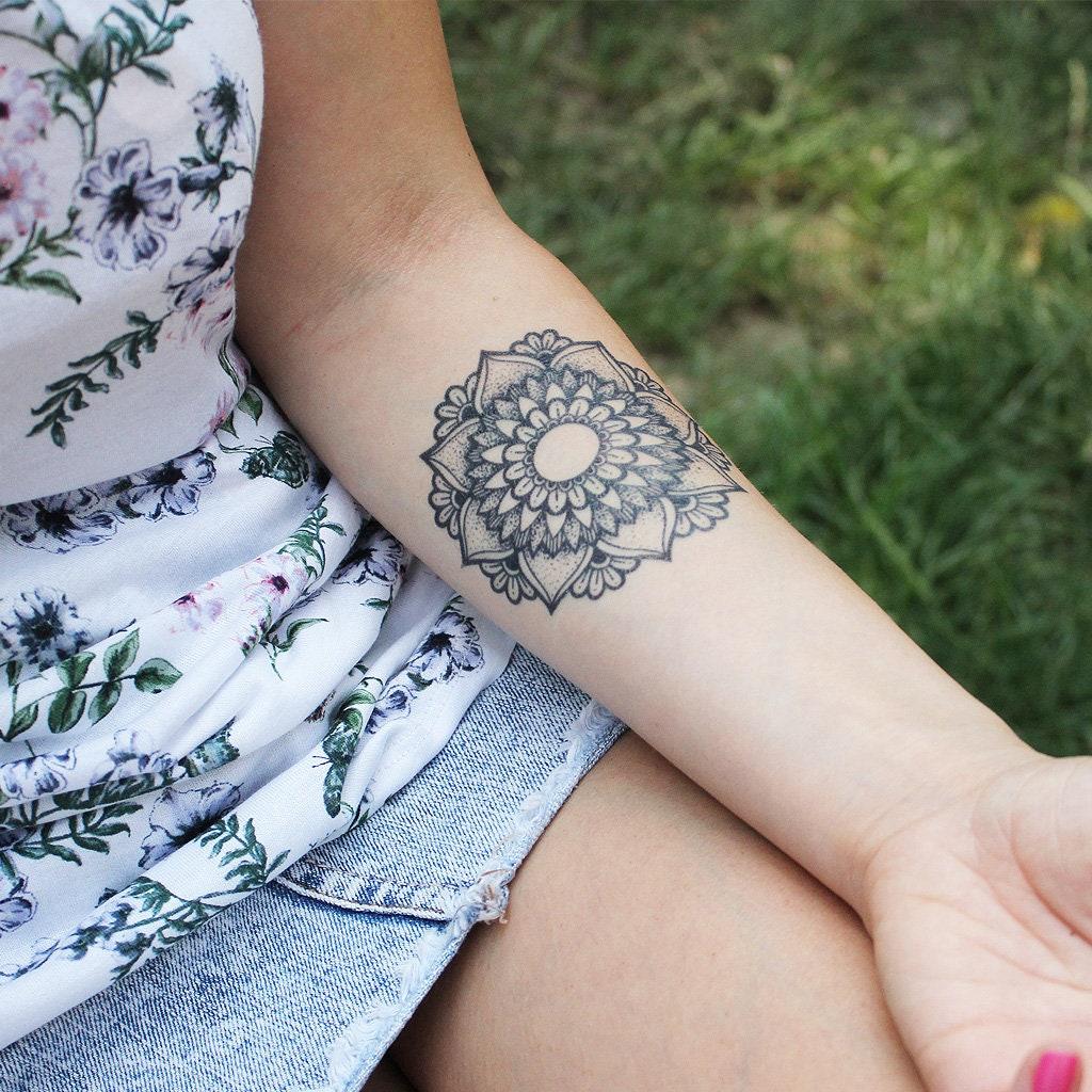 c3671a61c Graceful Mandala Temporary Tattoo / Mandala Temporary Tattoo | Etsy
