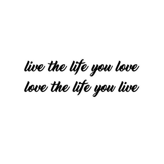 Live The Life You Love Hou Van Het Leven Je Leven Etsy
