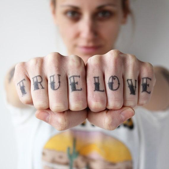 Doigts De Tatouage Traditionnel Tatouage Temporaire Etsy