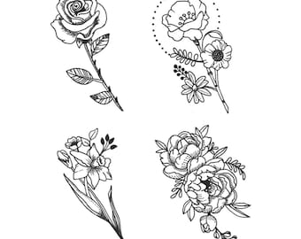 small flower tattoo etsy