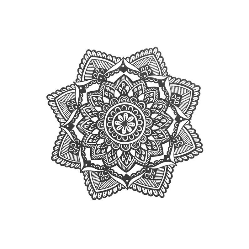 961b86ac3 Mandala Temporary Tattoo Ornament Temporary Tattoo / Mandala | Etsy