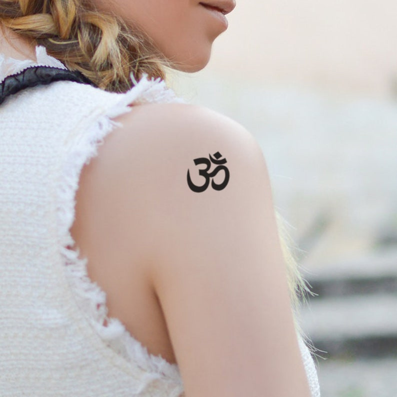 Om Symbol Tattoo Set of 2 Om Temporary Tattoo / Religious | Etsy