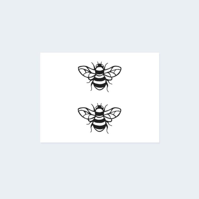 c8f2d92d3d736 Bee Tattoo Set of 2 Bee Temporary Tattoo / Honeybee | Etsy
