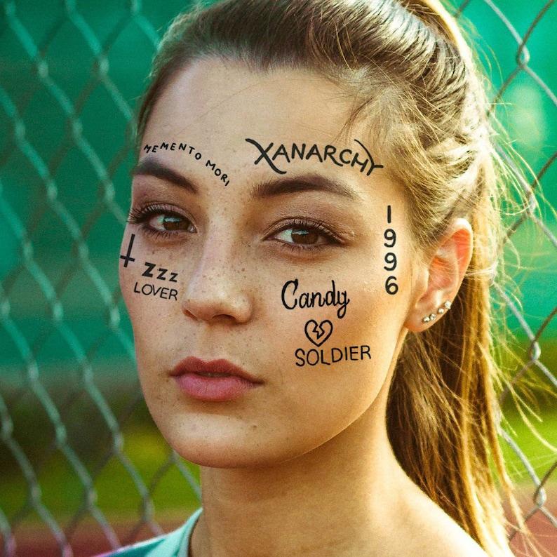 6eae33028ce2b Lil Xan Temporary Tattoo Set / Lil Xan Temporary Face Tattoo / | Etsy