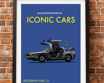 An Illustration Series of Iconic Cars - Vector Design Print