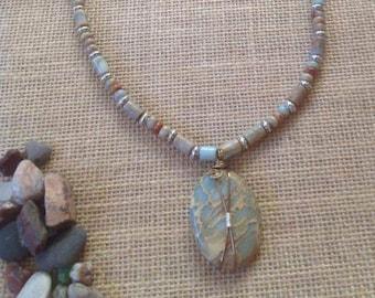 Aqua terra Jasper necklace #018