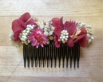 Preserved Flower Comb