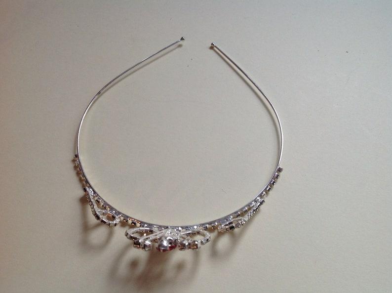 Wedding Accessories   Bridesmaid Clear /& Pink Crystals  Alice Band  Tiara