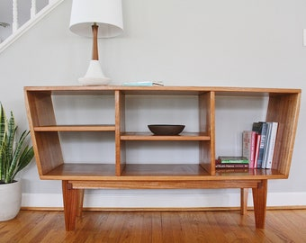 Cubby Bookcase Solid Maple Etsy