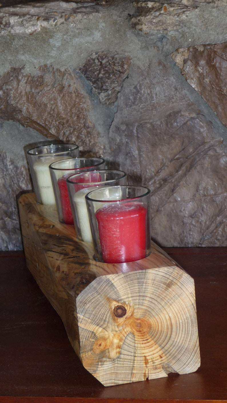 Cozy Fireplace Log Votive Candle Holder  Item 11 image 0