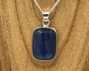 Kyanite Gemstone Pendant - Sterling Silver