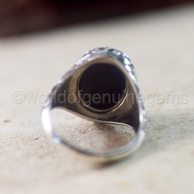 Designer silver Ring for Man Black Onyx Ring 925 Sterling Silver Ring Men/'s Huge Ring Unisex Handmade Jewelry Anniversary Gift Onyx Jewelry