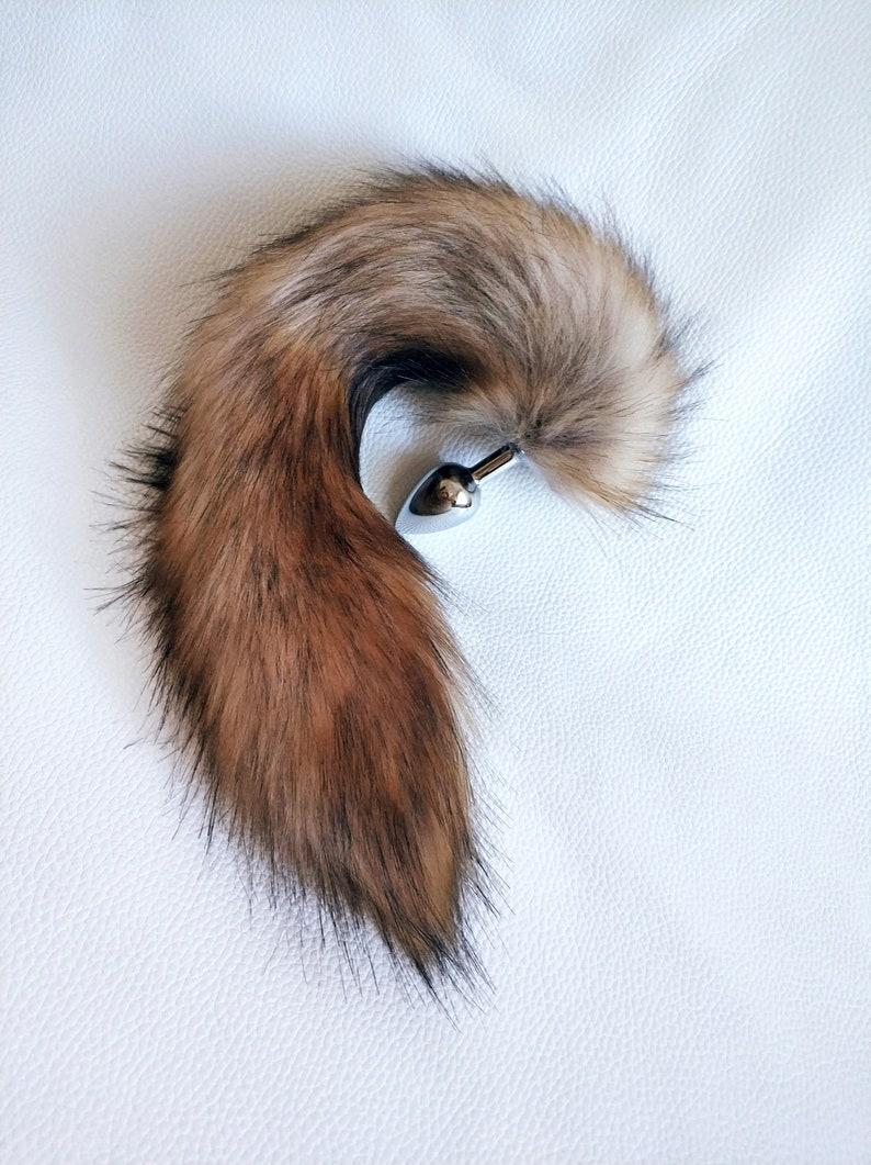 cddf4f031 Fox tail Butt plug Cat toy ddlg bdsm pet play Brown cat tail