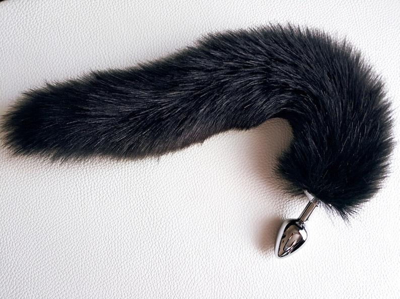 e9ef721546c Fox tail plug Butt plug black cat tail butt plug ddlg fox tail
