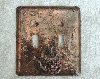 Copper Bronze finish with frog on lily pad