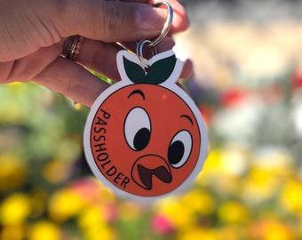 Orange Bird Key Chain