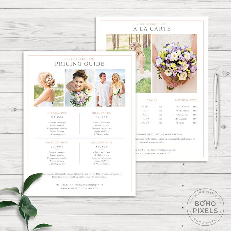 Photography Pricing Template  Photography Pricing Guide  image 0