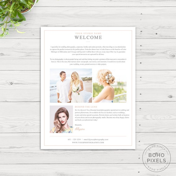 About Me Page Template For Photoshop Photography Marketing Template Photoshop Template Photographer About Me Page