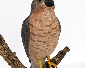 Hand Carved Hawk