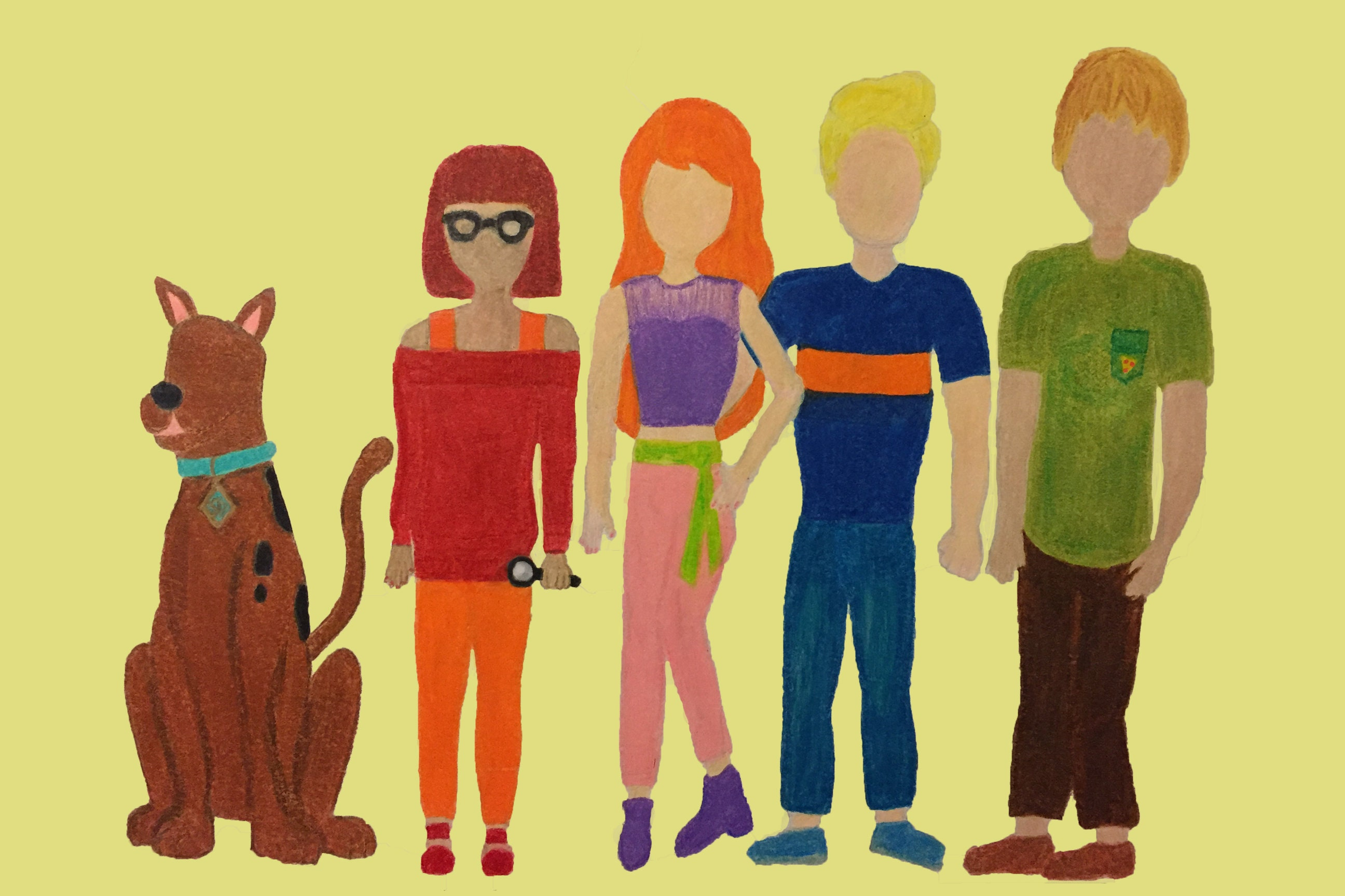 Scooby Doo and the gang in modern clothing Velma Dinkley   Etsy