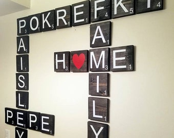 Scrabble Tiles For Wall Art Decorations, Thoughtful Wall Decor Birthday Gift