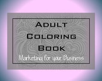Adult Coloring Book Pages Custom Logo Design Branding Kit Instagram Facebook Social Media
