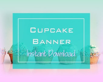 cupcake banner etsy