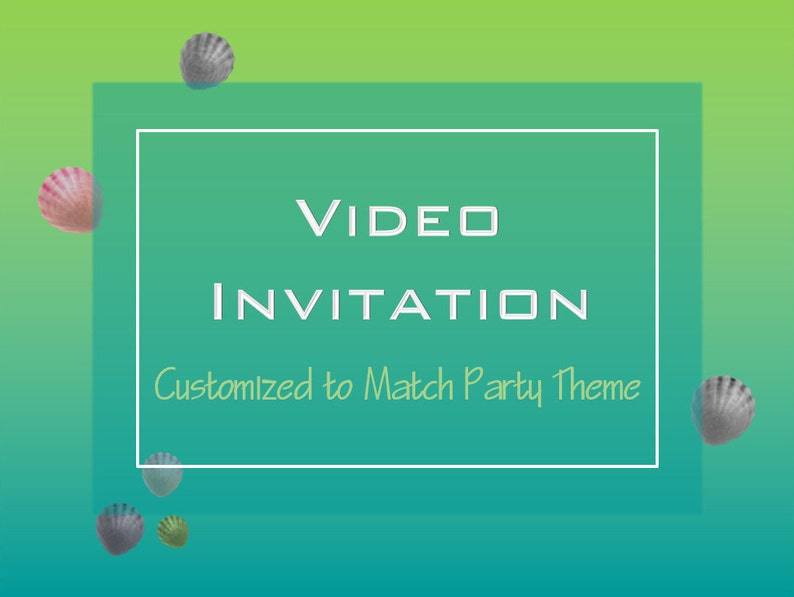 Video Invitation Birthday Sharks Mermaid