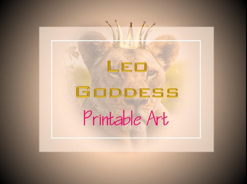 Leo, Printable Art, Leo Zodiac, Leo Goddess, August Birthday, Digital  Download, Wall Decor, Personalized, Lioness, Leo Birthday, Zodiac Sign
