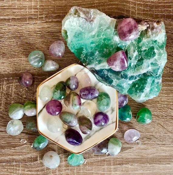 Rainbow Fluorite Crystals