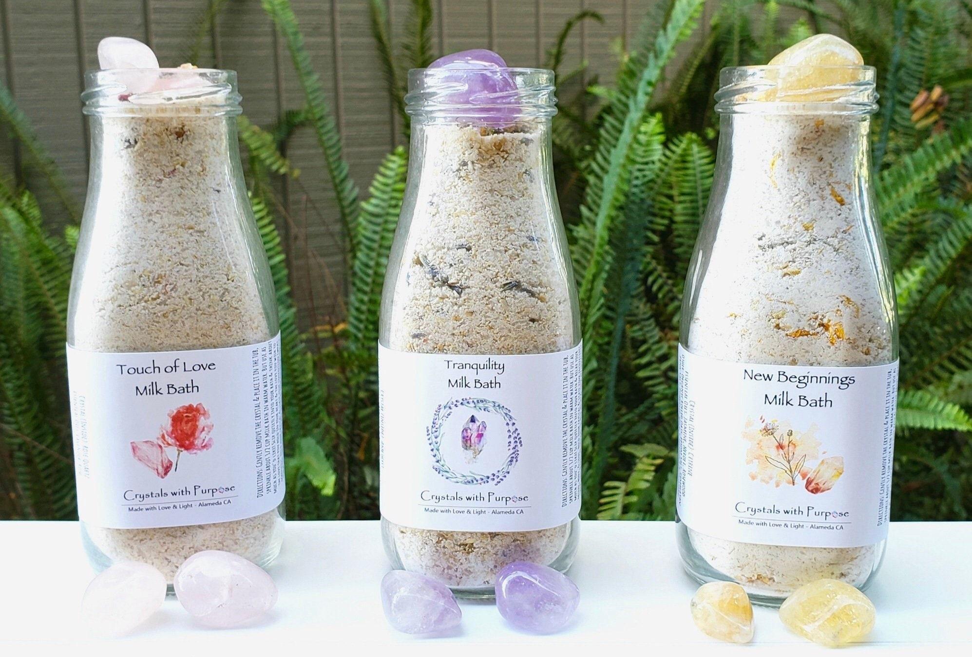 Milk & Oatmeal Bath w/Crystal