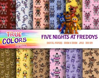 Five Nights at Freddys Digital Paper, Five Nights, Digital Paper