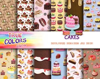 Cakes, Dessert, Pie - Digital Paper